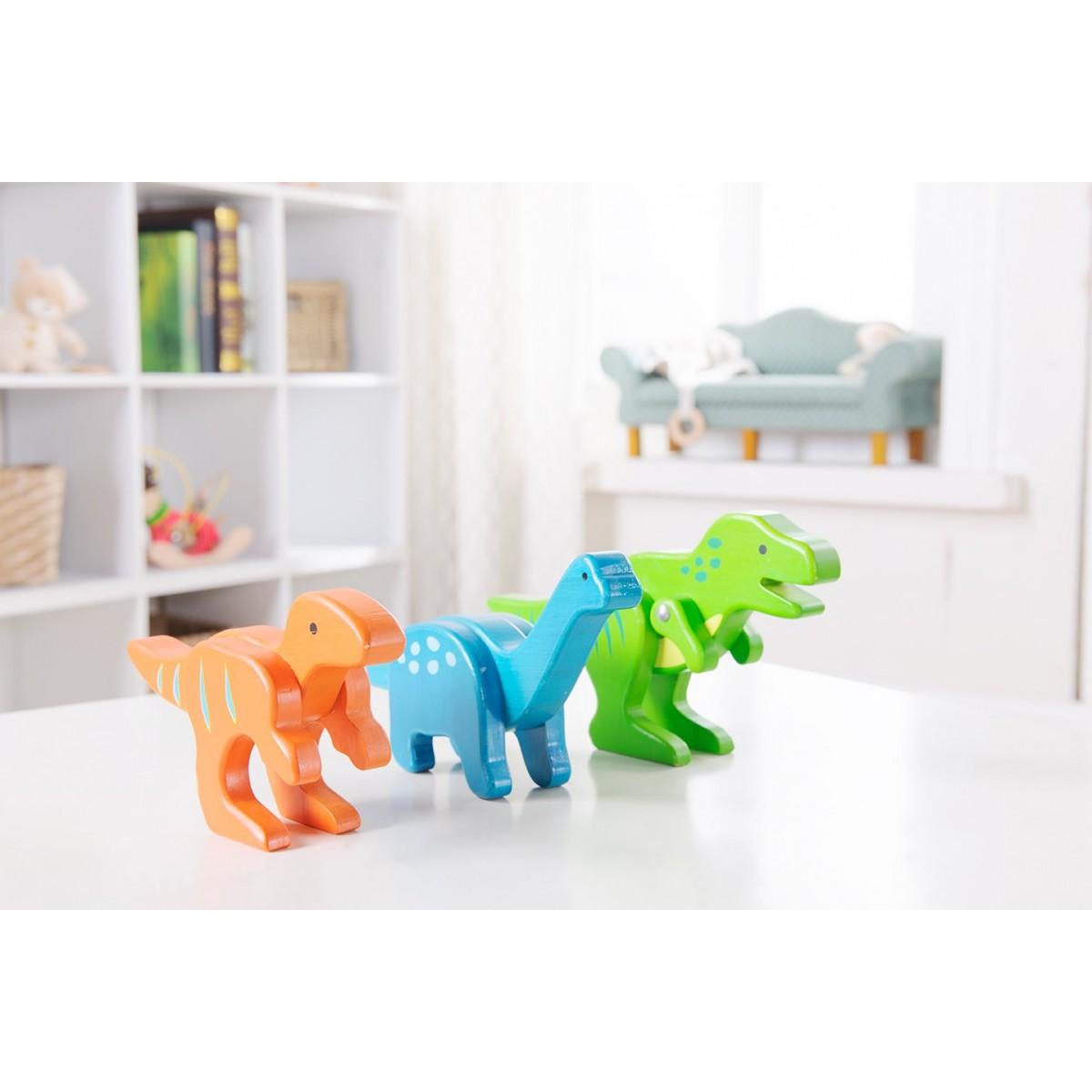 dinosaurios de bambú